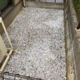 テラス砂利敷き施工